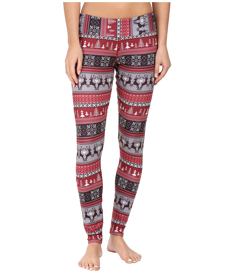 Hot Chillys - MTF Sublimated Print Tight (Holiday Fever) Women's Outerwear