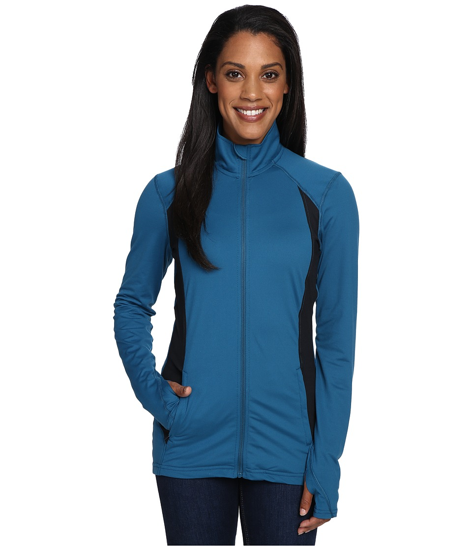 Hot Chillys - MTF Flex Jacket (Lagoon/Black) Women's Coat
