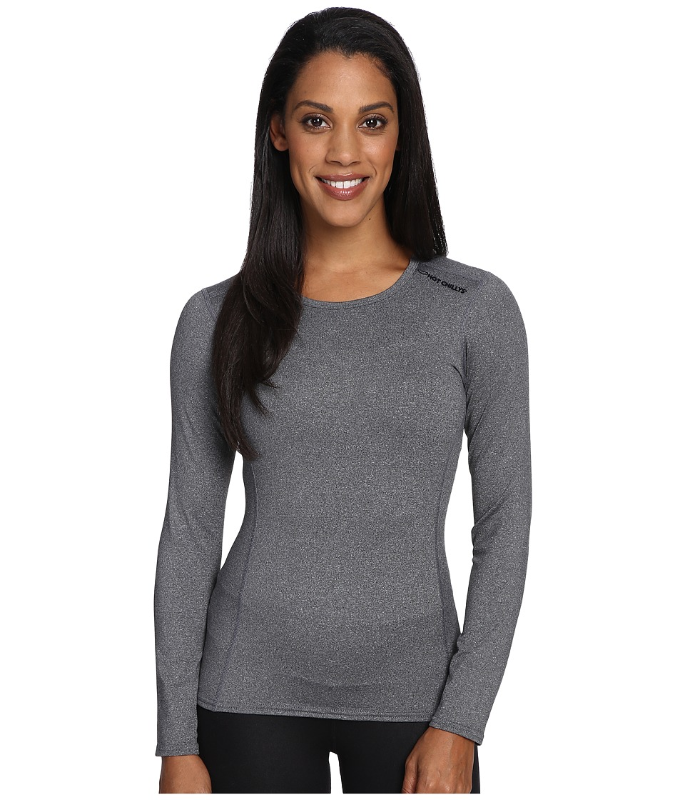 Hot Chillys - Micro-Elite Chamois 8K Crew Neck (Granite) Women's Underwear
