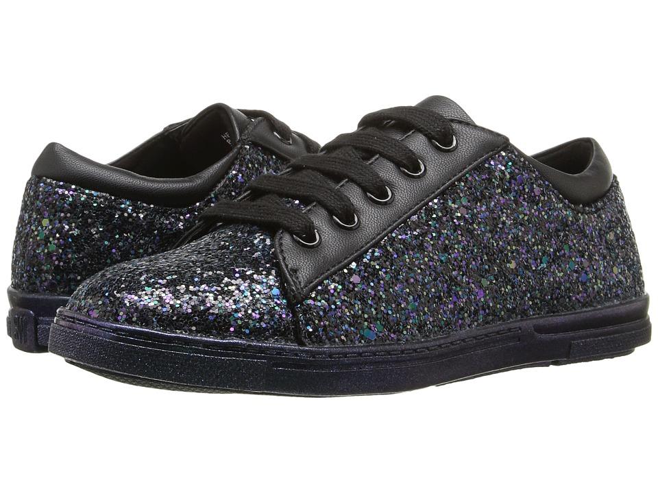 Stuart Weitzman Kids - Heather Low (Little Kid/Big Kid) (Black Glitter) Girl's Shoes
