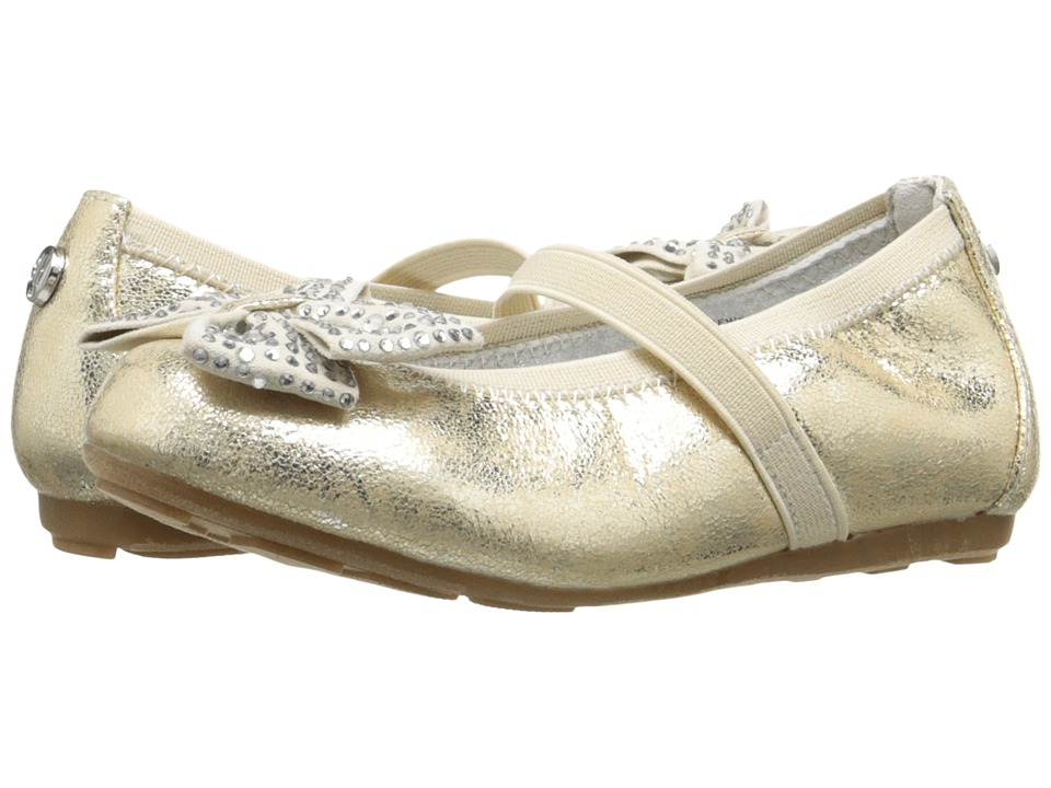 Stuart Weitzman Kids - Fannie Jewel Strap (Toddler/Little Kid) (Pale Gold Light) Girl's Shoes