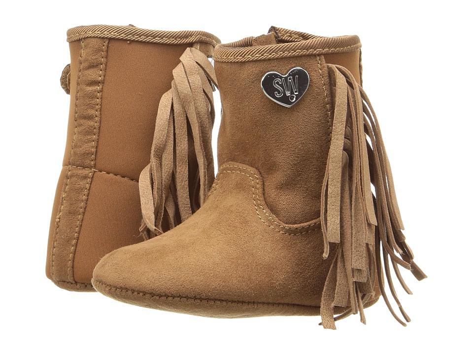 Stuart Weitzman Kids - 5050 Fringe (Infant/Toddler) (Chestnut) Girl's Shoes