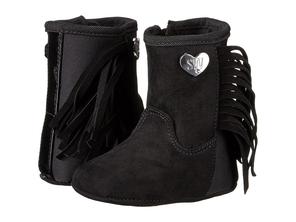 Stuart Weitzman Kids - 5050 Fringe (Infant/Toddler) (Black) Girl's Shoes