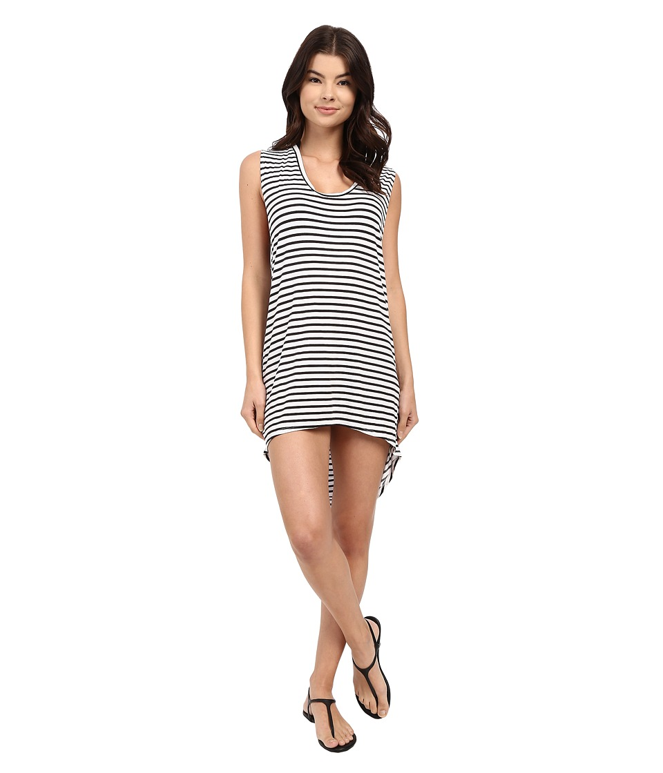 MIKOH SWIMWEAR - Okinawa Tank Dress Cover-Up (Marine Stripe Night) Women's Swimwear