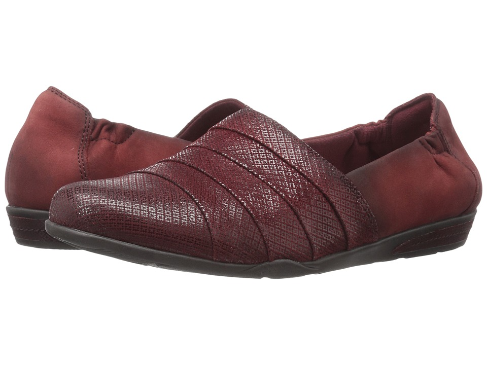 Earth - Marsala (Burgundy Print Suede) Women's Slip on Shoes