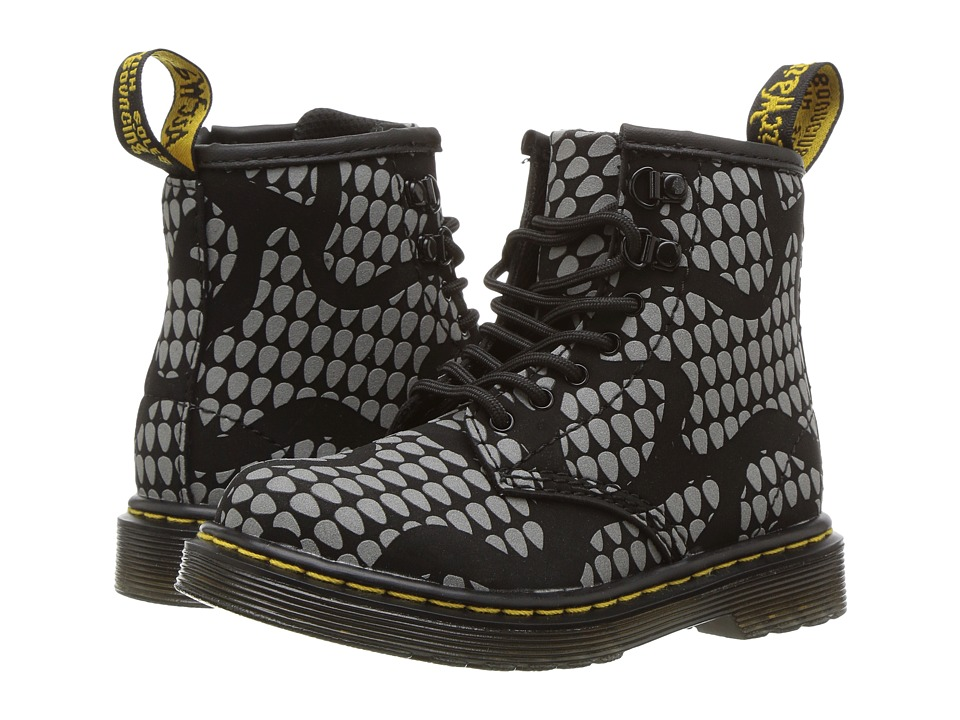 Dr. Martens Kid's Collection - Brooklee (Toddler) (Black Reflective) Kids Shoes