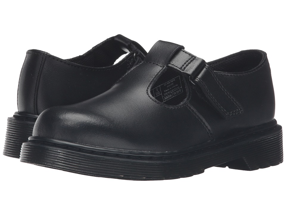 Dr. Martens Kid's Collection - Goldie (Little Kid/Big Kid) (Black Leather) Girl's Shoes
