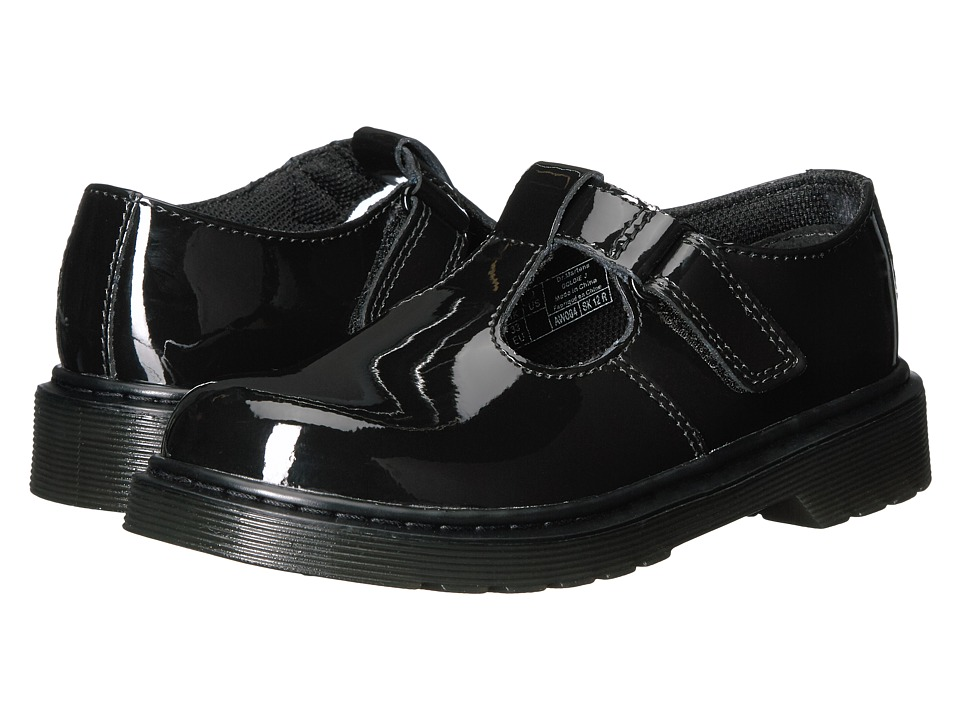 Dr. Martens Kid's Collection - Goldie (Little Kid/Big Kid) (Black Patent) Girl's Shoes