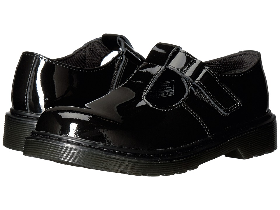 Dr. Martens Kid's Collection - Goldie (Big Kid) (Black Patent) Girl's Shoes