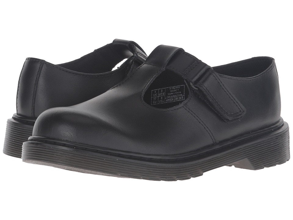 Dr. Martens Kid's Collection - Goldie (Toddler) (Black Leather) Girl's Shoes