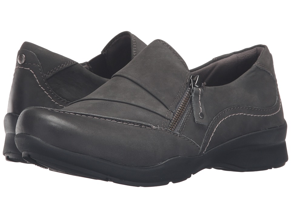 Earth - Anise (Dark Grey Soft Buck) Women's Slip on Shoes