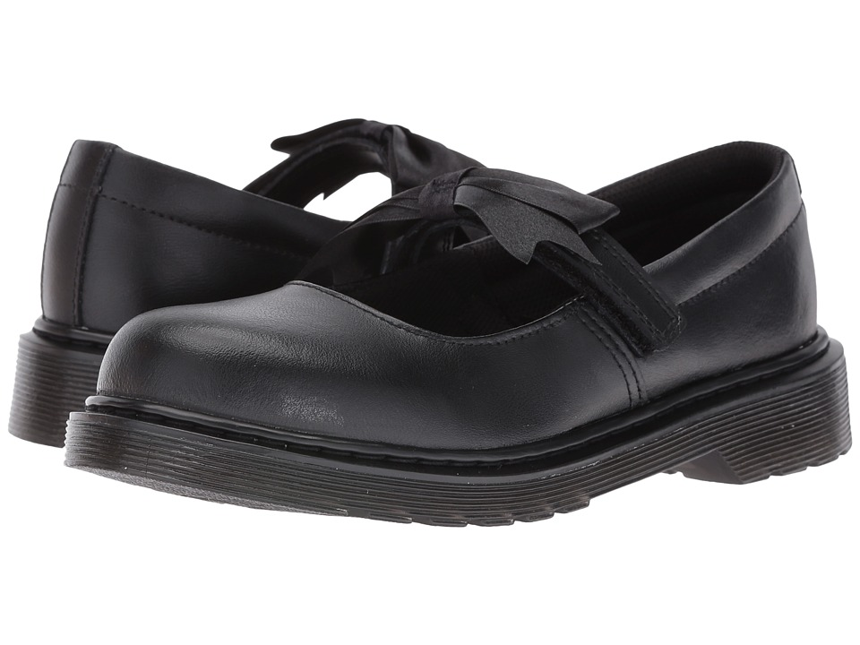 Dr. Martens Kid's Collection - Maccy Mary Jane (Toddler) (Black Leather) Girls Shoes