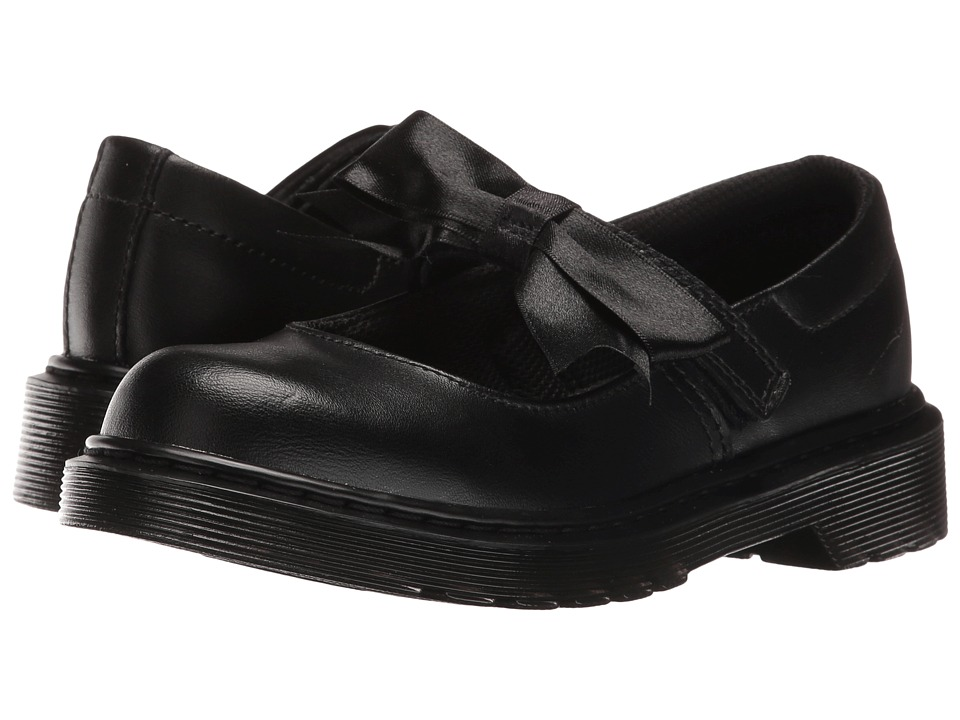 Dr. Martens Kid's Collection - Maccy Mary Jane (Little Kid/Big Kid) (Black Leather) Girls Shoes