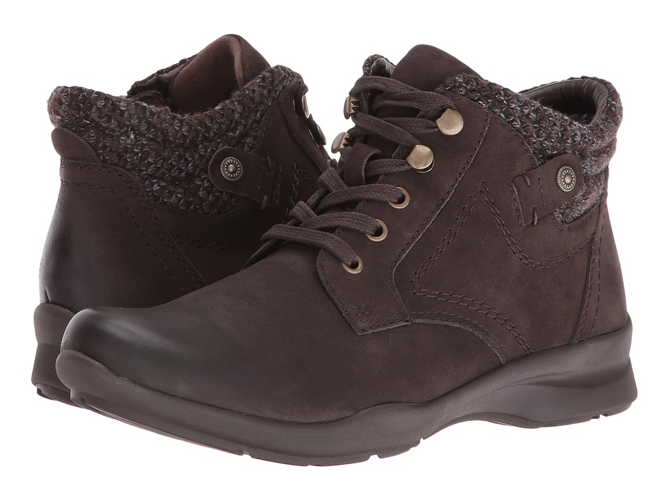 Earth - Davana (Dark Brown Soft Buck) Women's Lace up casual Shoes