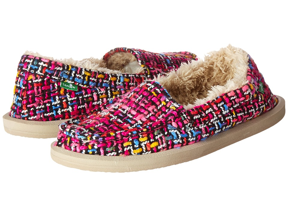 Sanuk Shor-Knitty (Fuchsia Multi Tweed) Women