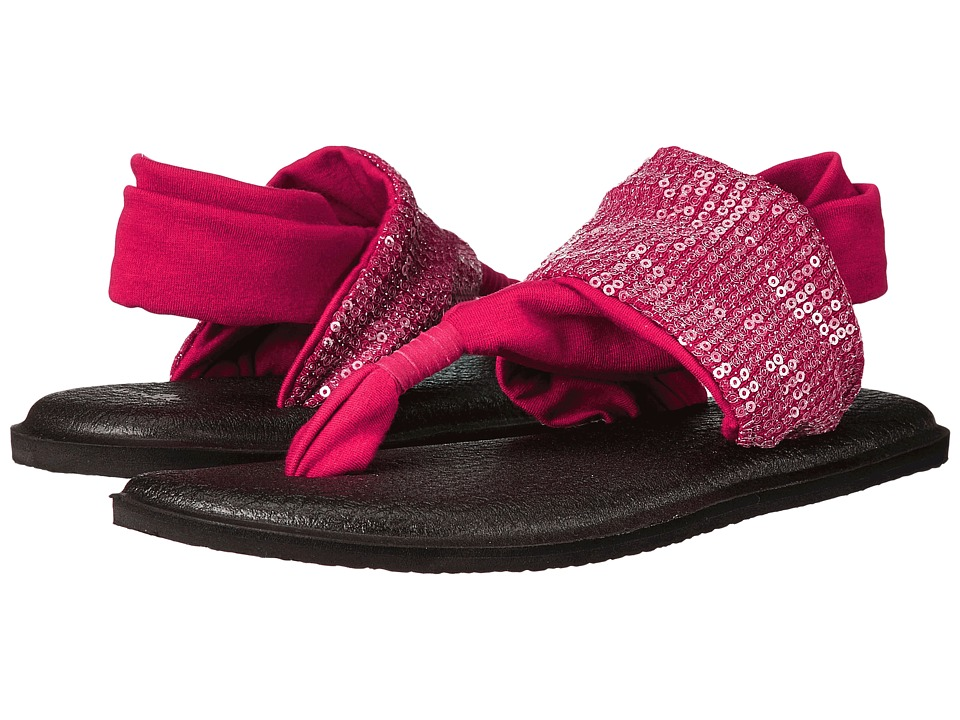 Sanuk - Yoga Sling Sequins (Scarlet) Women's Sandals