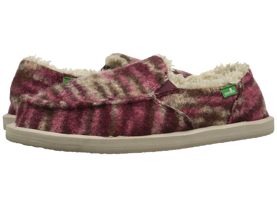 Sanuk - Calichill (Burgundy) Women's Slip on Shoes