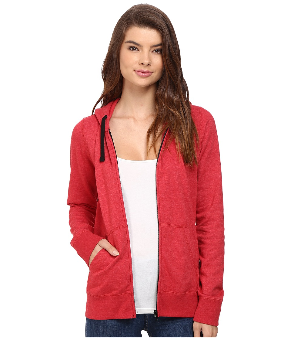Hurley - Solid Icon Zip Fleece (Heather Gym Red) Women's Sweatshirt