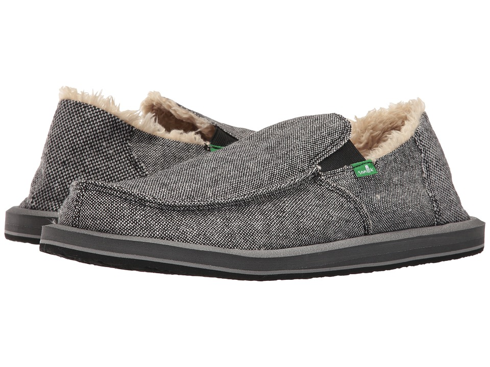 Sanuk - Vagabond Chill (Charcoal Wool Fleck) Men's Slip on Shoes