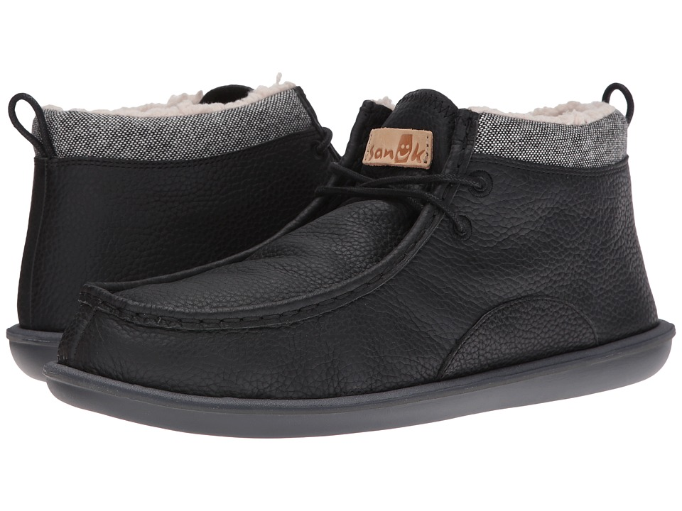 Sanuk - Walla Deluxe Chill (Black) Men's Slip on Shoes