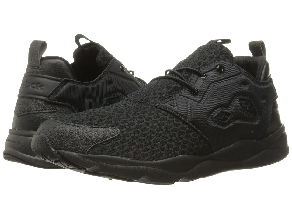Reebok - Furylite (Black/Black/White) Men's Shoes