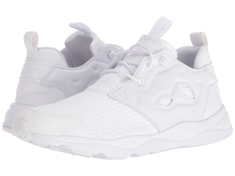 Reebok - Furylite (White/White/Black) Men's Shoes
