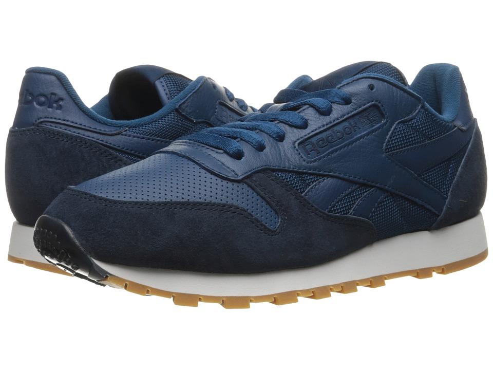 Reebok Classic Leather SPP (Noble Blue/Collegiate Navy/White/Gum) Men's  Shoes