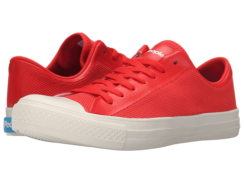 People Footwear - Phillips - 3D Mesh w/ EVA (Supreme Red/Picket White) Lace up casual Shoes