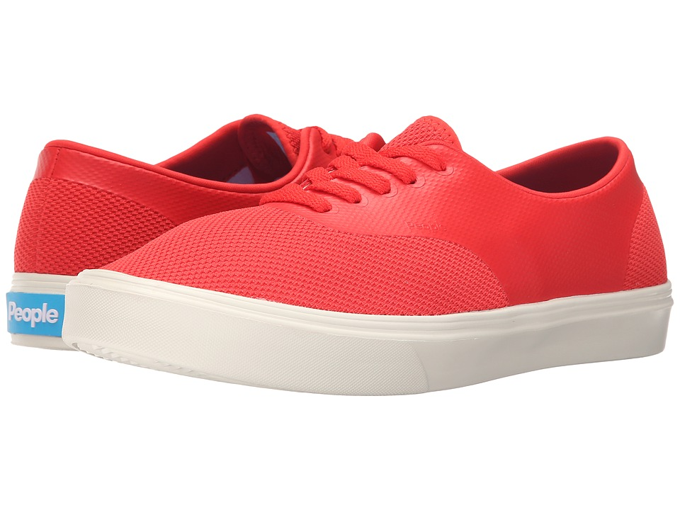 People Footwear - Stanley - 3D Mesh w/ EVA (Supreme Red/Picket White) Lace up casual Shoes