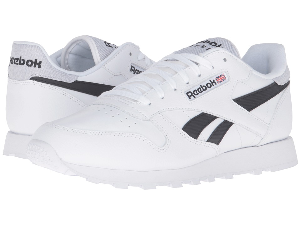 Reebok Lifestyle - Classic Leather Pop (White/Black) Men's Shoes