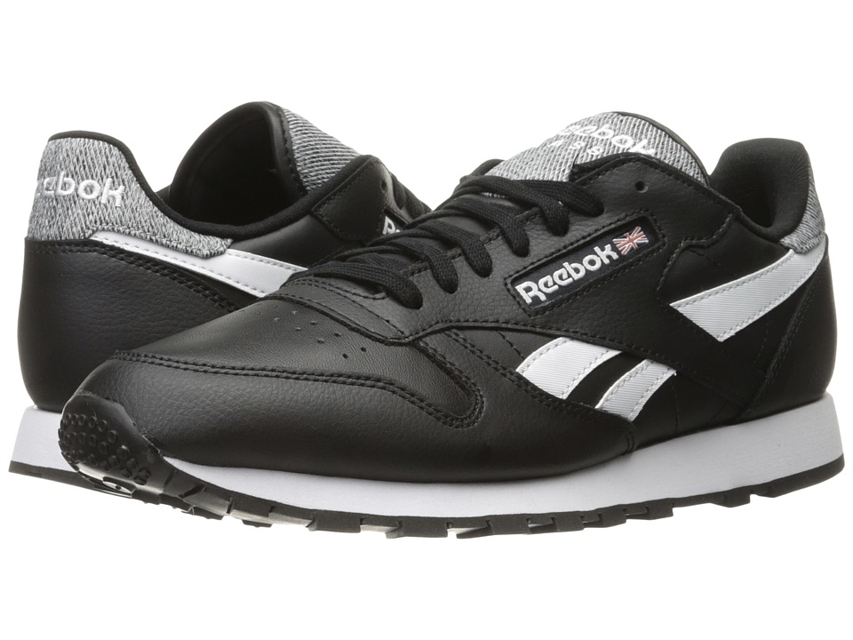 Reebok Lifestyle - Classic Leather Pop (Black/White) Men's Shoes