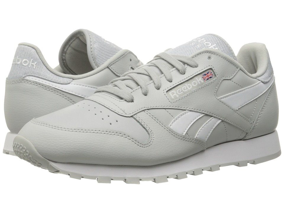 Reebok Lifestyle - Classic Leather Pop (Skull Grey/White) Men's Shoes
