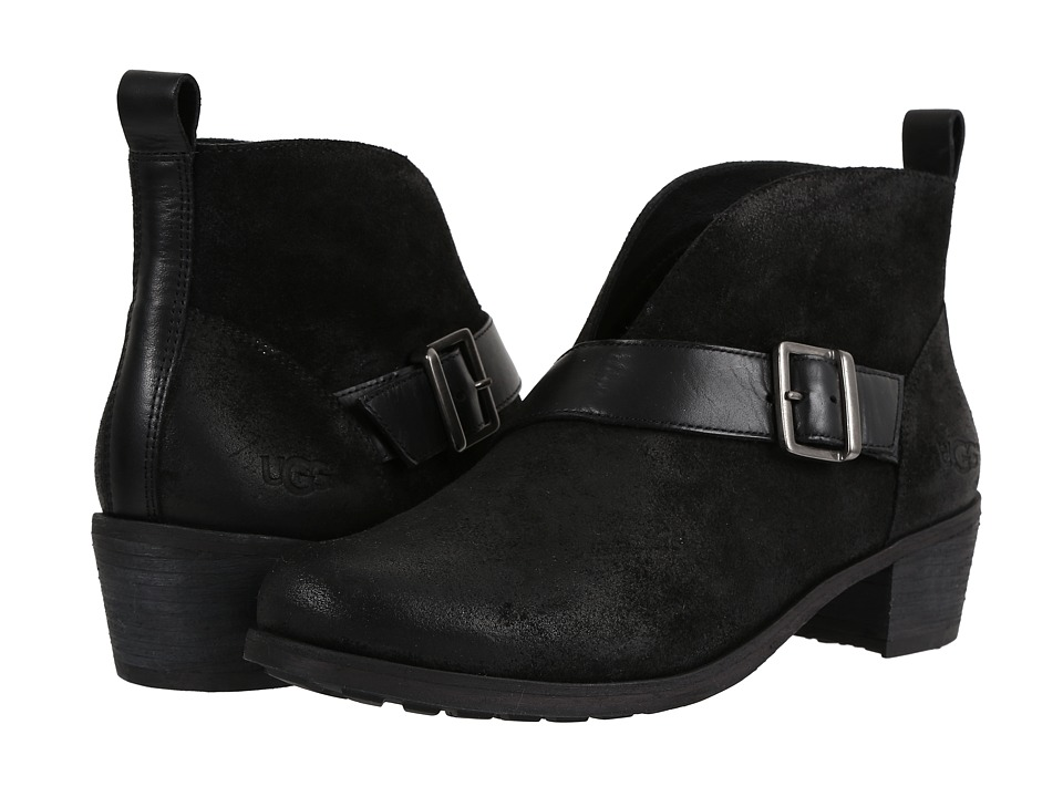 UGG - Wright Belted (Black) Women's Boots