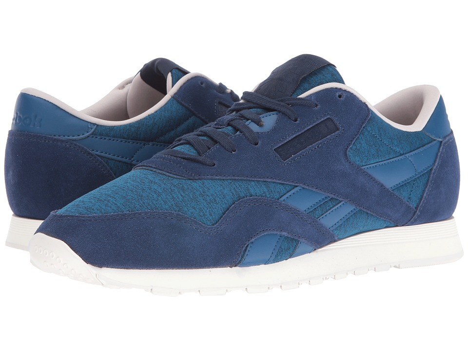 Reebok Lifestyle - Classic Nylon J (Noble Blue/Collegiate Navy/Sand Stone/Chalk) Men's Shoes