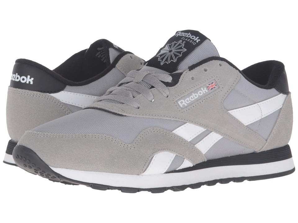 Reebok Lifestyle - Classic Nylon TS (Medium Grey Heather Solid Grey/White/Black) Men's Shoes