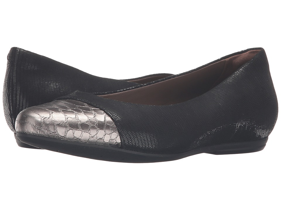Earth - Hanover Earthies (Black Printed Suede) Women's Flat Shoes