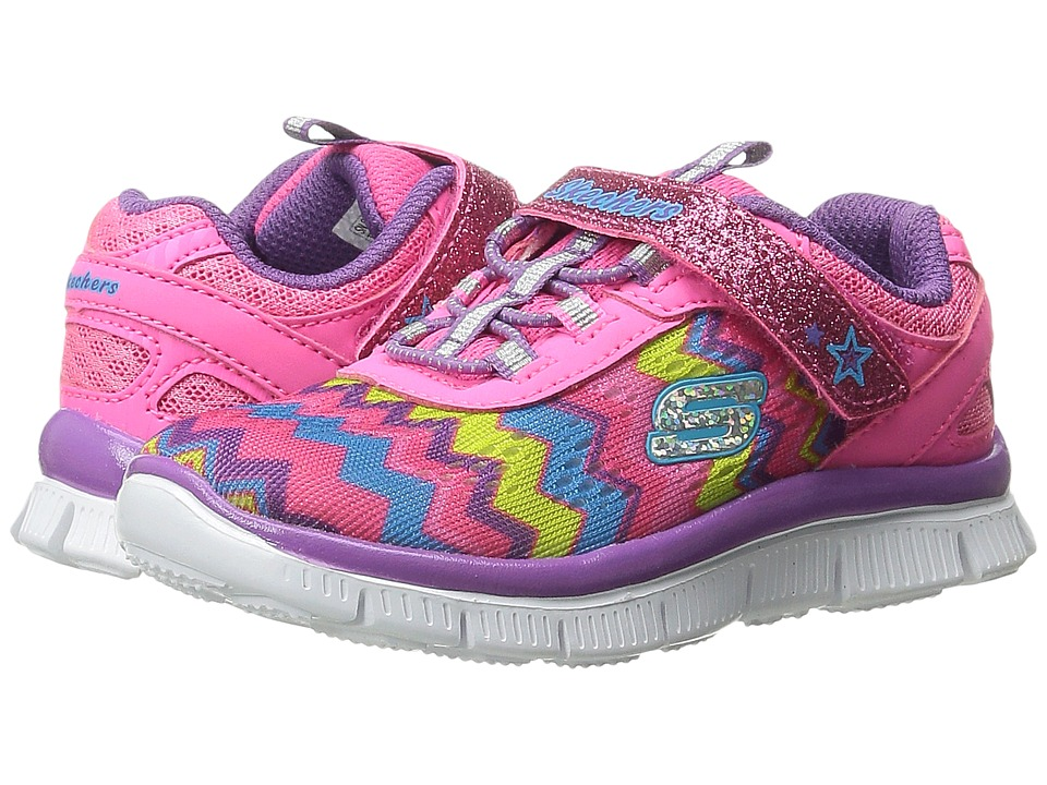 SKECHERS KIDS - Skech Appeal (Toddler) (Neon Pink/Multi) Girl's Shoes