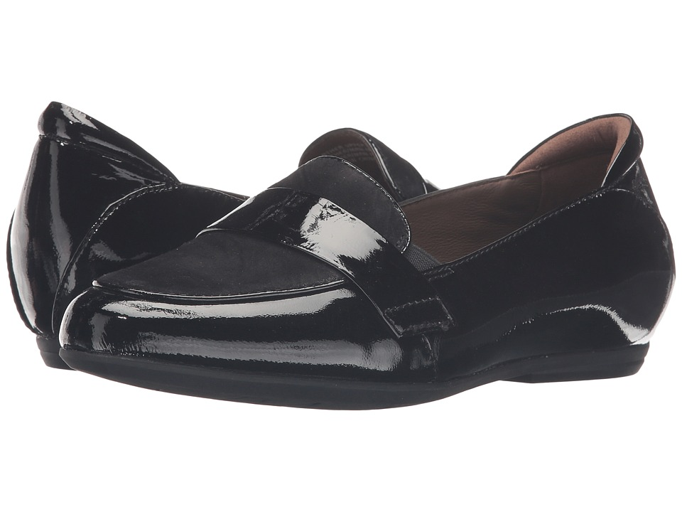 Earth - Bremen Earthies (Black Crinkled Patent) Women's Slip on Shoes