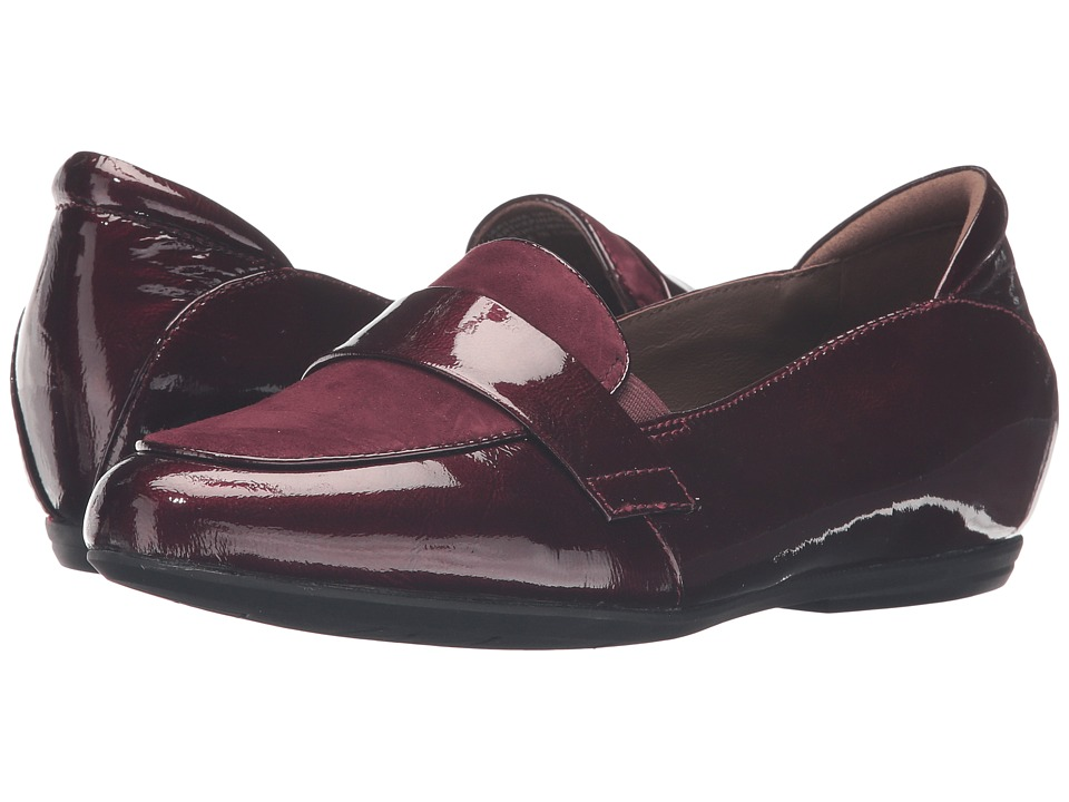 Earth - Bremen Earthies (Burgundy Crinkled Patent) Women's Slip on Shoes