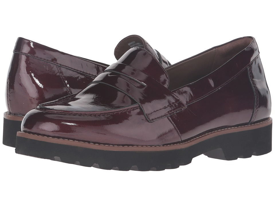 Earth - Braga Earthies (Burgundy Crinkled Patent) Women's Slip on Shoes