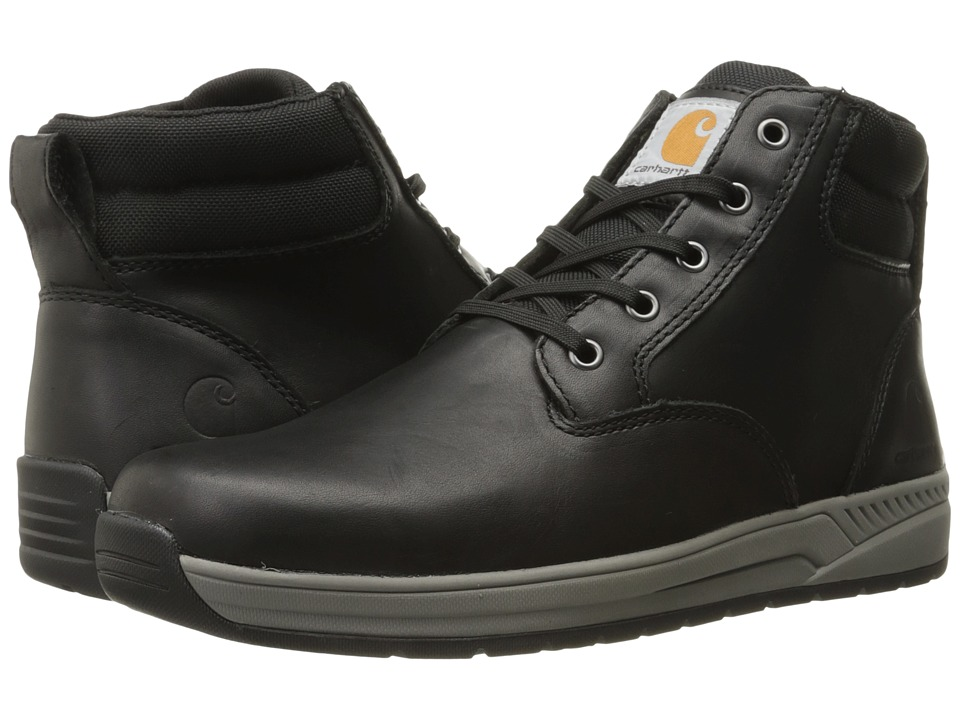 Carhartt - 4 Lightweight Wedge Boot (Black Oil Tanned Leather) Men's Work Boots