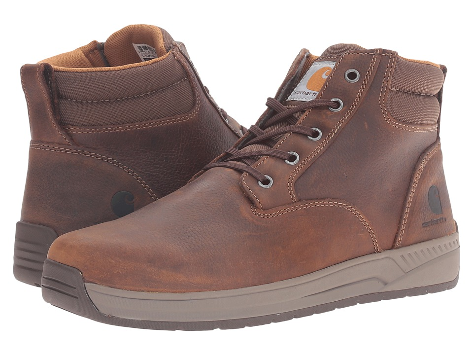 Carhartt - 4 Lightweight Wedge Boot (Brown Oil Tanned Leather 1) Men's Work Boots