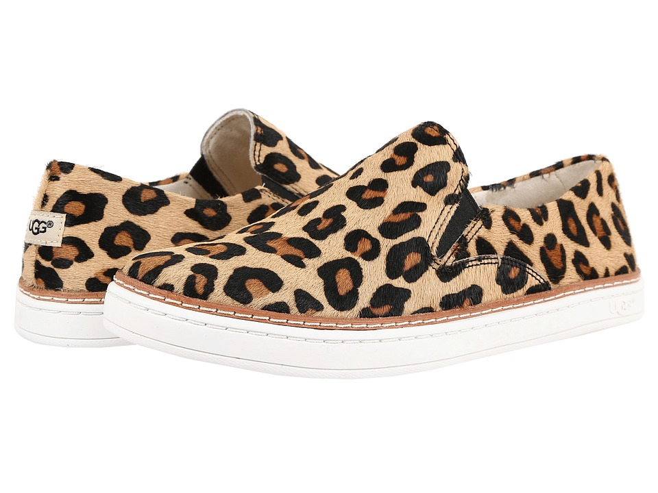UGG - Keile Calf Hair Leopard (Chestnut Leopard) Women's Slip on Shoes
