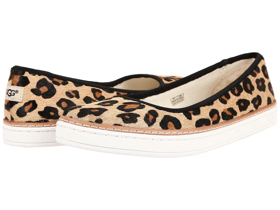 UGG Kammi Calf Hair Leopard Chestnut Leopard Slip on Shoes