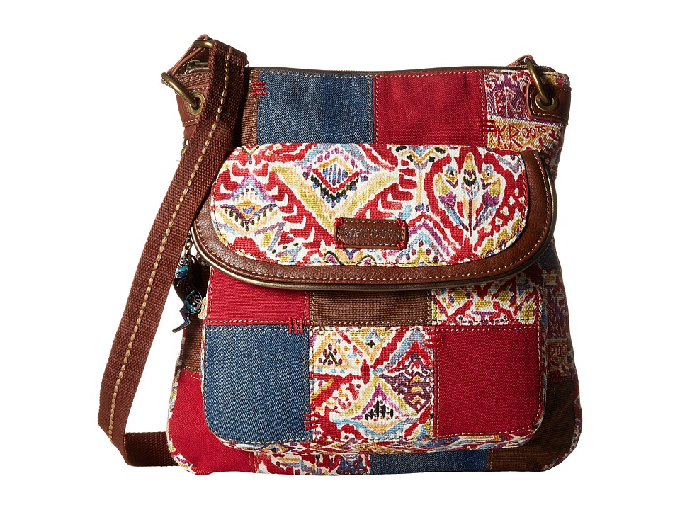 Sakroots - Artist Circle Flap Crossbody (Sweet Red Brave Beauti Patch) Cross Body Handbags
