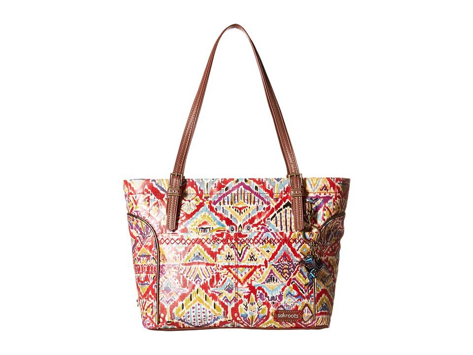Sakroots - Artist Circle Medium Satchel (Sweet Red Brave Beauti) Tote Handbags