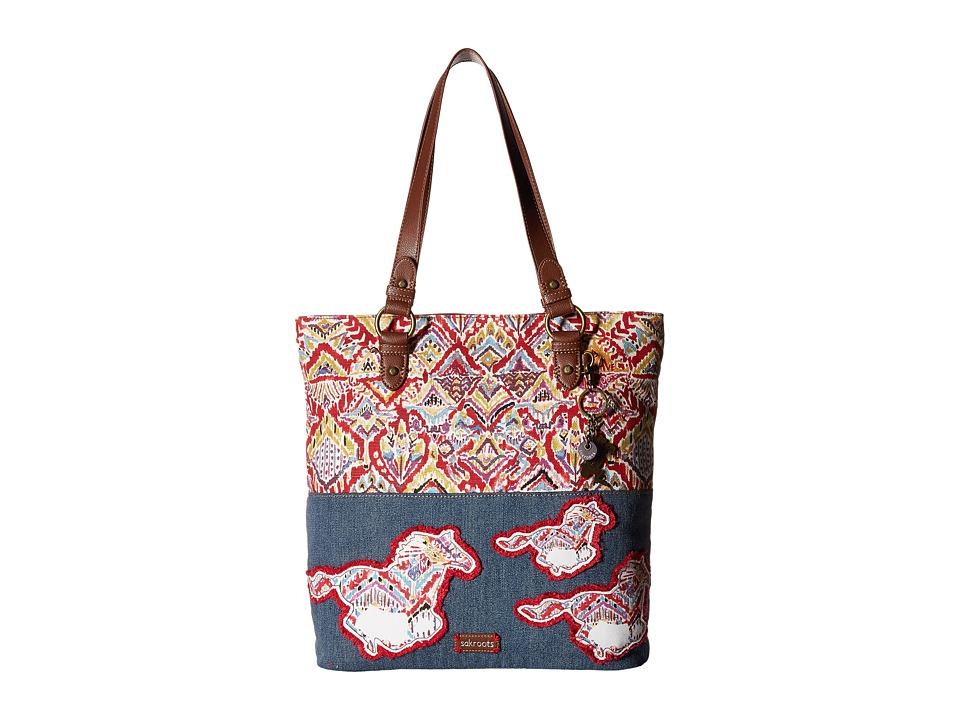 Sakroots - Artist Circle Soft Tote (Sweet Red Brave Beauti) Tote Handbags