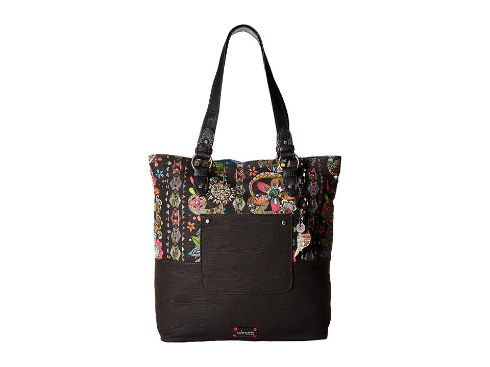 Sakroots - Artist Circle Soft Tote (Neon Spirit Desert) Tote Handbags