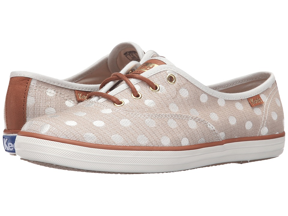 Keds - Champion Jacquard Dot (Natural/Cream) Women's Lace up casual Shoes