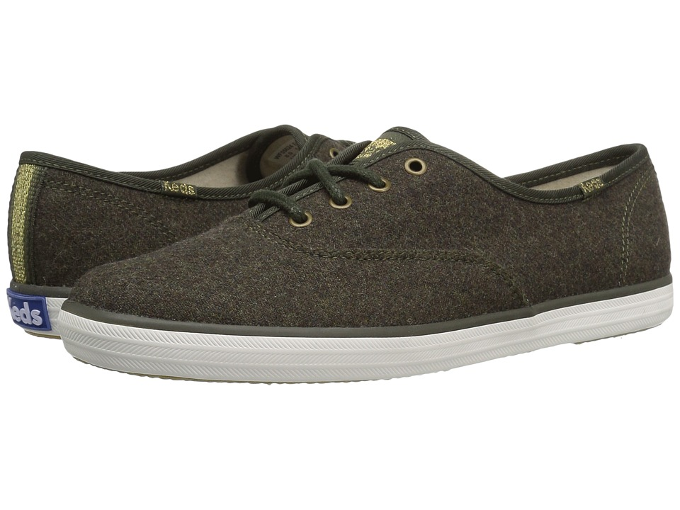 Keds - Champion Wool (Forest Green) Women's Lace up casual Shoes